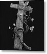 The Cross And The Vine Metal Print by Jyvonne Inman