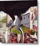 The Crow And The Pitcher Metal Print by Denny Bond