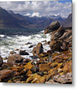 The Cuillin Mountains From Elgol Metal Print by John McKinlay