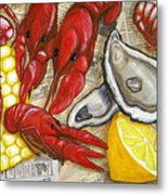 The Daily Seafood Metal Print by JoAnn Wheeler