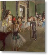 The Dancing Class Metal Print by Edgar Degas