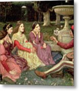 The Decameron Metal Print by John William Waterhouse