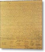 The Declaration Of Independence Metal Print by Founding Fathers