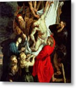 The Descent From The Cross Metal Print by Peter Paul Rubens