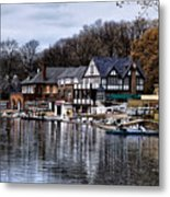 The Docks At Boathouse Row - Philadelphia Metal Print by Bill Cannon