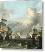 The Dutch Fleet Of The India Company Metal Print by Ludolf Backhuysen