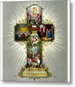 The Easter Cross Metal Print by War Is Hell Store