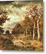 The Edge Of The Forest Metal Print by Narcisse Virgile Diaz de la Pena