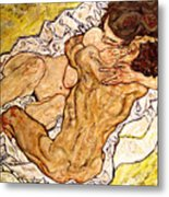 The Embrace Metal Print by Egon Schiele