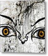 The Eyes Of Guru Rimpoche  Metal Print by Fabrizio Troiani