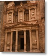 The Famous Treasury With Two Camels Metal Print by Taylor S. Kennedy