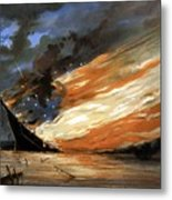 The Fate Of The Rebel Flag Metal Print by War Is Hell Store