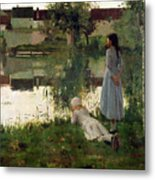 The Ferry Metal Print by William Stott