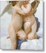 The First Kiss  Metal Print by William Adolphe Bouguereau