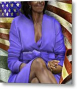 The First Lady-american Pride Metal Print by Reggie Duffie