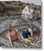 The First Miraculous Draught Of Fish Metal Print by Tissot