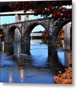 The Five Bridges - East Falls - Philadelphia Metal Print by Bill Cannon
