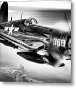 The Flight Home Bw Metal Print by JC Findley