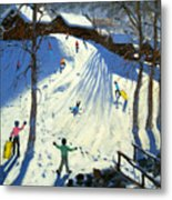 The Footbridge Metal Print by Andrew Macara