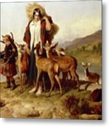 The Forester's Family Metal Print by Sir Edwin Landseer