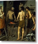 The Forge Of Vulcan Metal Print by Diego Velazquez