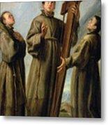 The Franciscan Martyrs In Japan Metal Print by Don Juan Carreno de Miranda