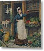 The Fruit Seller Metal Print by Victor Gabriel Gilbert