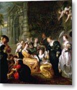 The Garden Of Love Metal Print by Peter Paul Rubens