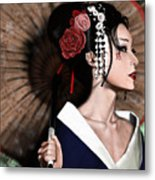 The Geisha Metal Print by Pete Tapang