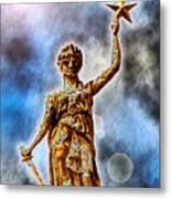 The Goddess Of Liberty - Texas State Capitol Metal Print by Wendy J St Christopher