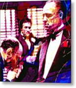 The Godfather Kiss Metal Print by David Lloyd Glover