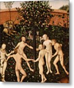 The Golden Age Metal Print by Lucas Cranach