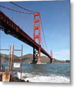 The Golden Gate Bridge At Fort Point - 5d21473 Metal Print by Wingsdomain Art and Photography