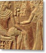 The Golden Shrine Of Tutankhamun Metal Print by Egyptian Dynasty