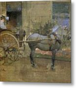 The Governess Cart Metal Print by Joseph Crawhall