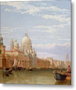The Grand Canal - Venice Metal Print by George Clarkson Stanfield