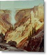 The Grand Canyon Of The Yellowstone Metal Print by Thomas Moran