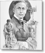 The Great Houdini Metal Print by Steven Paul Carlson