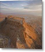 The Great Refuge Of Masada Looms Metal Print by Michael Melford