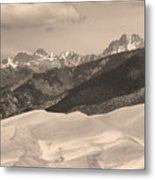 The Great Sand Dunes Sepia Print 45 Metal Print by James BO  Insogna