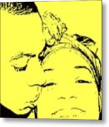 The Happy Couple  Metal Print by D R TeesT