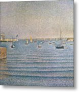 The Harbour At Portrieux Metal Print by Paul Signac