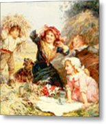The Haymakers Metal Print by Frederick Morgan