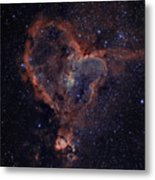 The Heart Metal Print by Charles Warren