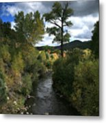 The High Road To Taos Metal Print by Timothy Johnson