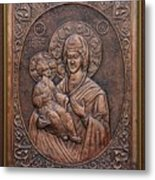 The Holly Mother With Jesus Christ Metal Print by Netka Dimoska