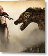 The Hyaenodons - Allie's Battle Metal Print by Mandem