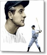 The Iron Horse  Lou Gehrig Metal Print by Iconic Images Art Gallery David Pucciarelli