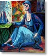 The Jeans Girl. 20 Years Later Metal Print by Elisheva Nesis