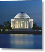 The Jefferson Memorial Metal Print by Peter Newark American Pictures